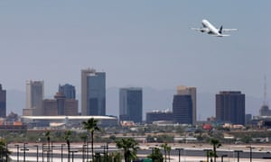 A jet takes off from Sky Harbor airport in Phoenix