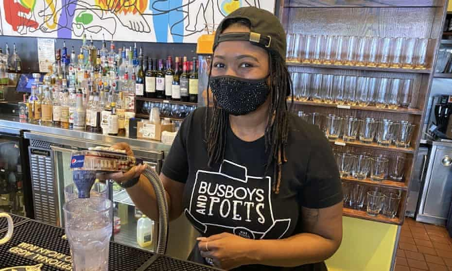 Cafe and bookstore Busboys and Poets, in Washington DC, seeks to be a place where 'racial and cultural connections are consciously uplifted'.