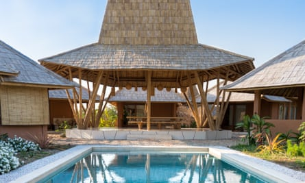 Poolside at Sumba's eco-resort. Sumba Hospitality Foundation, Sumba Island, eastern Indonesia.