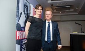 Amelia Gentleman with Ian Hislop at Paul Foot Award 2018