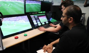 Video assistant referees has a green button to 'bookmark' an incident and a red button that allows them to contact the on-pitch referee.
