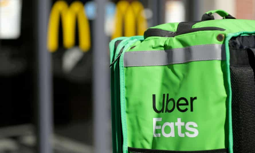 An Uber Eats delivery bag