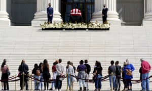 Ruth Bader Ginsburg: thousands expected to pay respects as judge lies in repose | US news | The Guardian