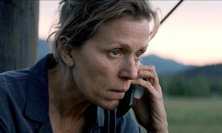 Frances McDormand in Three Billboards Outside Ebbing, Missouri, 2017. Jon Gregory won an Oscar nomination for the film.