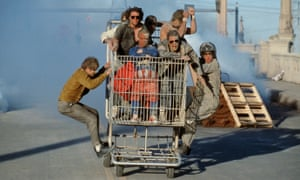 To hell in a shopping trolley … the cast of Jackass