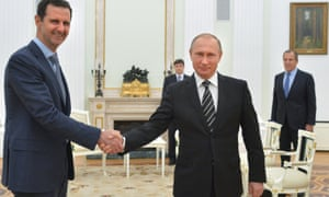 Bashar al-Assadn with Vladimir Putin