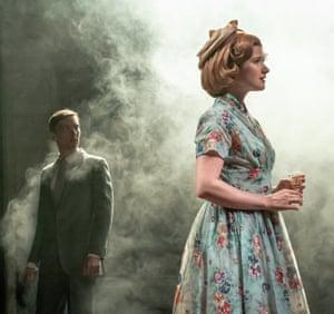 Joshua James (Robert) and Karen Fishwick (Daisy) in Wife at Kiln, London.