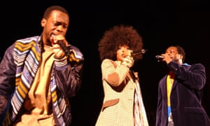Live at Hammersmith Apollo in 2005 … Pras Michél, Lauryn Hill and Wyclef Jean of the Fugees/