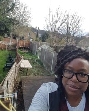 Kala Paul-Worika in her garden