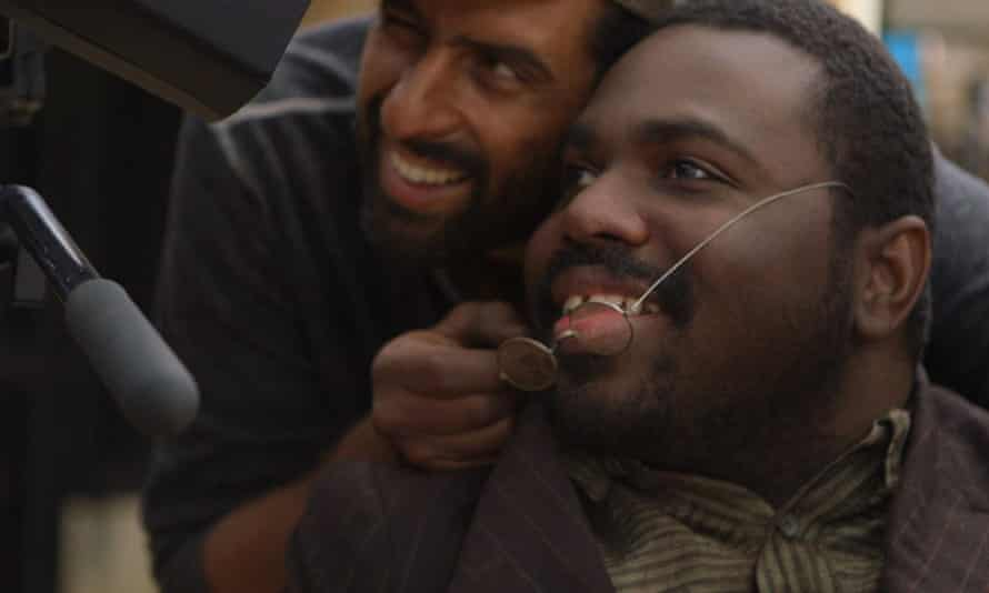 Disabled actor AJ Murray on the set of documentary, Becoming Bulletproof