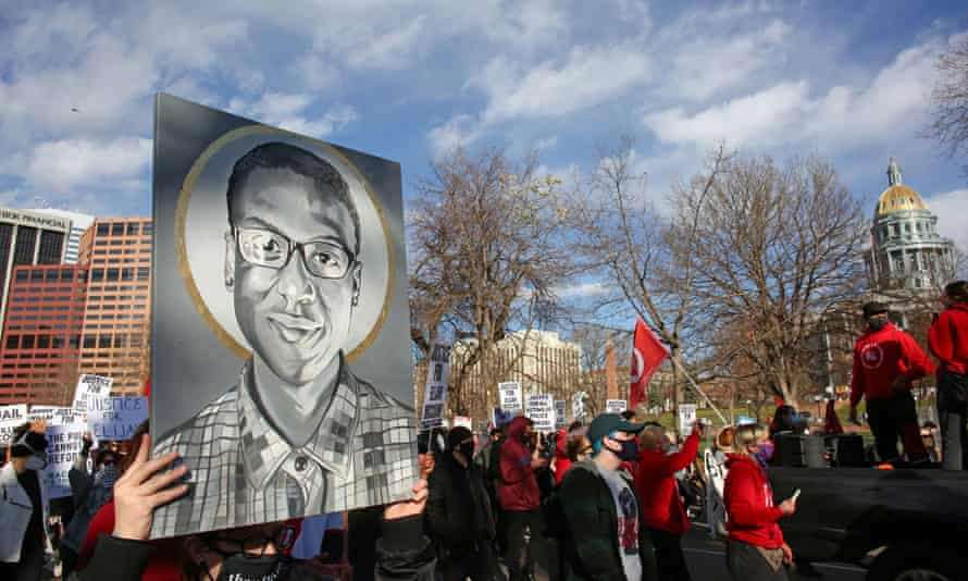 Protesters gather for a rally to call for justice for Elijah McClain in Denver in November.