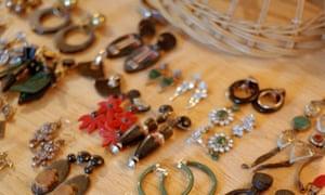 Lucinda Chambers' earring collection.