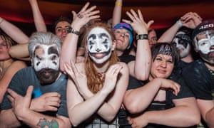 Juggalos at a concert at the Eagle/Rave club in Milwaukee, Wisconsin.