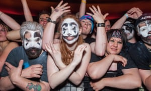 Juggalos at an Insane Clown Posse concert. Fans of the band are planning a march against the FBI's designation of them as a 'gang'.