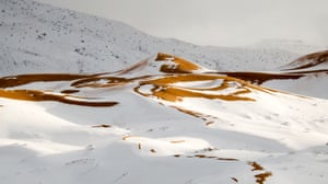 In the past week it has snowed steadily until it reached waist-deep in parts of Aïn Séfra