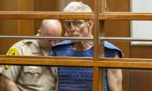 Edward Buck appears at Los Angeles Superior Court charged with three felonies.