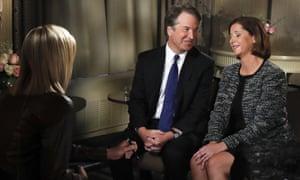 Brett Kavanaugh on Fox with his wife, declaring his innocence.