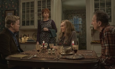 What happened? … (l-r) Jesse Plemons, Jessie Buckley, Toni Collette and David Thewlis in I'm Thinking of Ending Things.