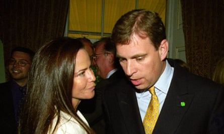 With Koo Stark in 1999.