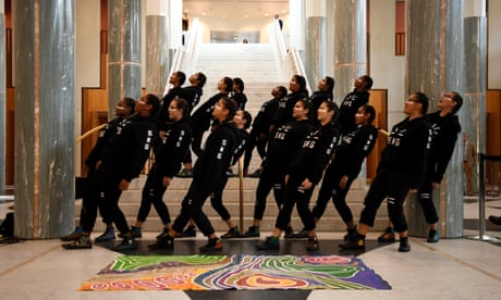 'Spine-tinglingly beautiful': Indigenous youth choir perform at Parliament House – video
