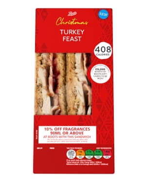 Boots Turkey Feast Christmas Sandwich.