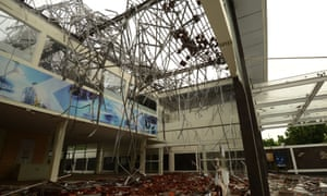 Thousands of buildings were damaged by the quake