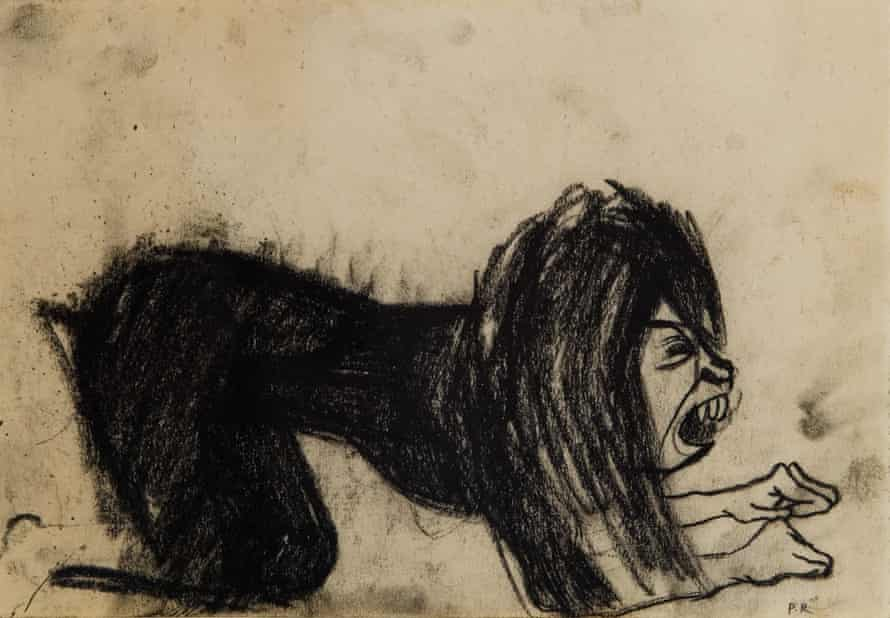 An early Dog Woman drawing, 1952.