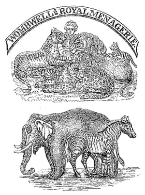 Flyer for Wombwell's Royal Menagerie