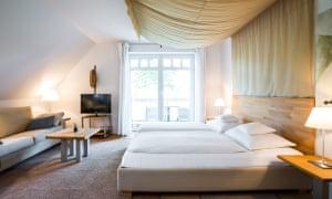 bedroom at Carpe Diem, Prerow, Germany