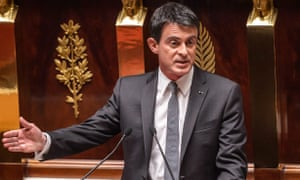 Manuel Valls addresses the French national assembly.