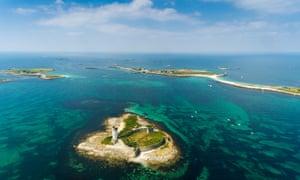 The Glénan islands, off the coast of Finistère.