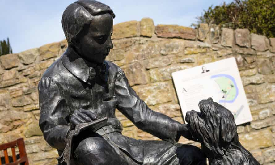 'Will future generations look back on the early 21st century and lament the absence of the next Robert Louis Stevenson?' … statue to the writer in Colinton village, Edinburgh.