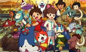 The Yo-Kai Watch 2: Bony Spirits Fleshy Souls gang – the game features 100 new Yo-kai.