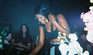 Jasmine Infiniti DJing at Club Chai's Boiler Room session, July 2017.