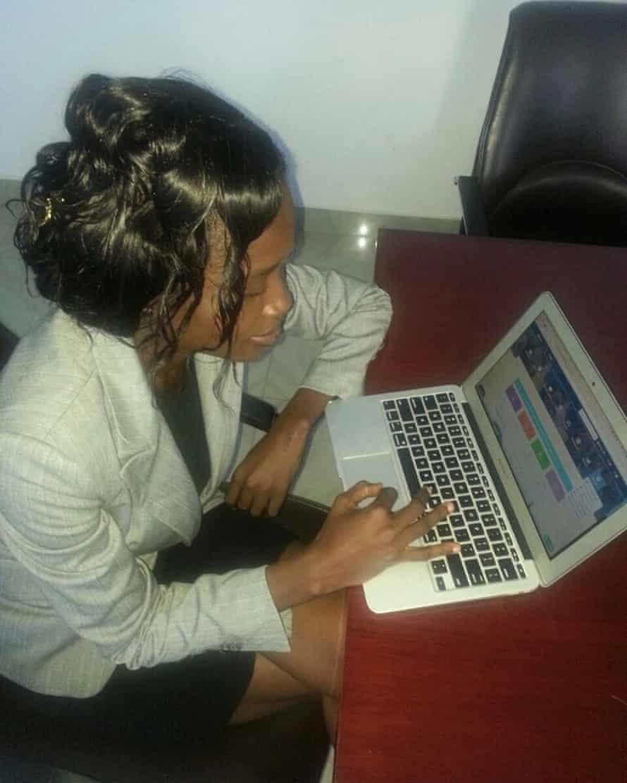 A pastor using the Asoriba app
