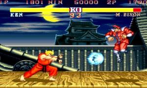 Street Fighter II Hyper Fighting.
