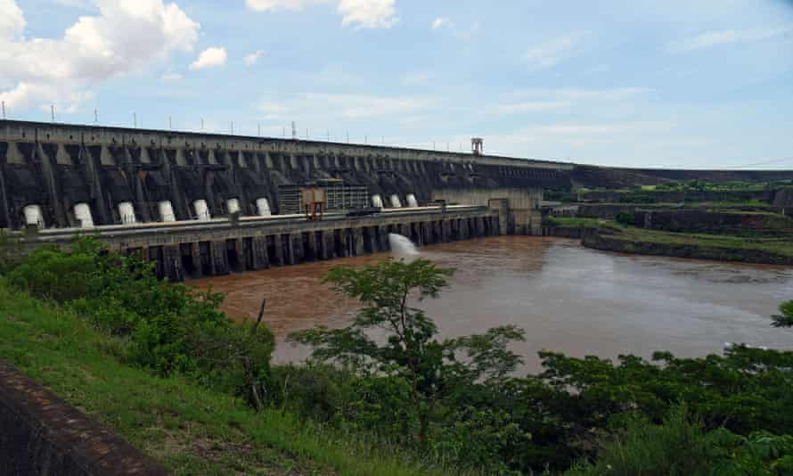 The Itaipu hydroelectric dam on the Parana River, Brazil border. Most hydroplants are in regions forecast to see water shortages, like South America.