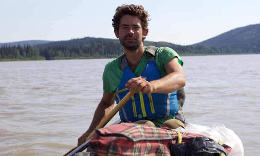 Kings of the Yukon author Adam Weymouth at work.
