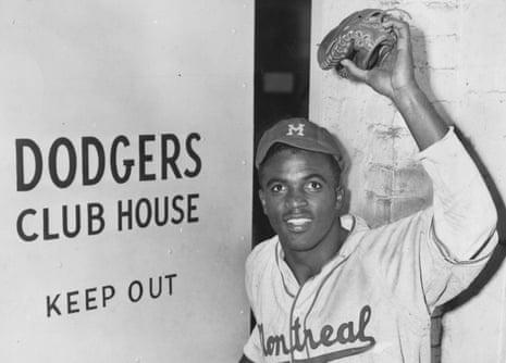 Milestone moment … Jackie Robinson in Burns's film Baseball.