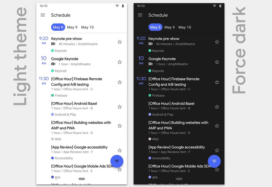 Android is finally getting a built-in dark or night mode.