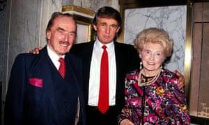 Donald Trump with his parents.