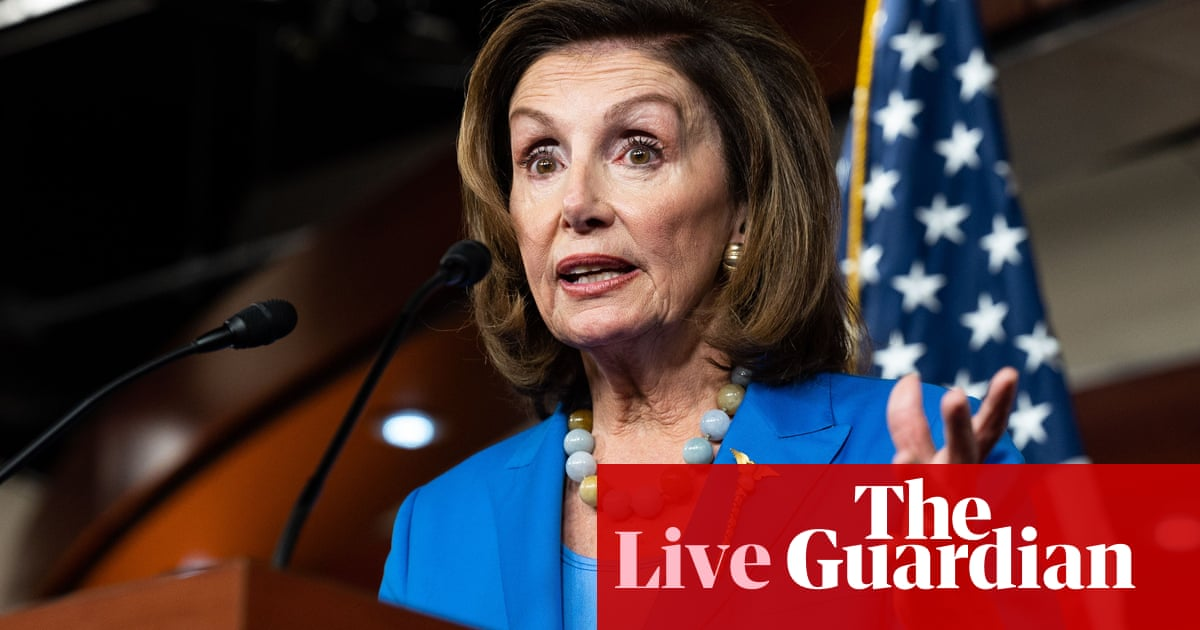 Pelosi plans to hold House vote on infrastructure bill today following setback – live