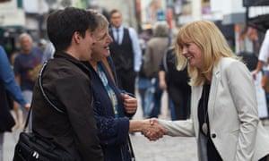 Rosie Duffield MP meeting voters in Canterbury