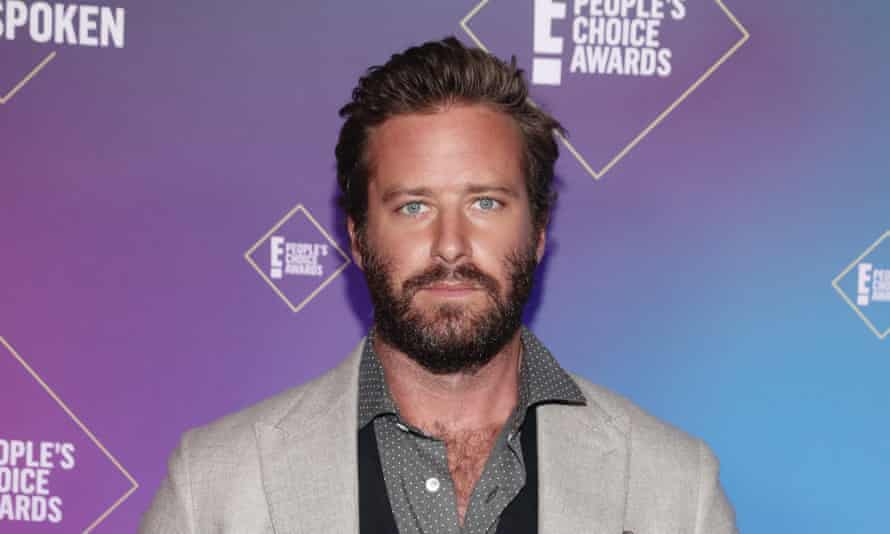 Armie Hammer attends the 2020 E! People's Choice Awards on November 15, 2020.