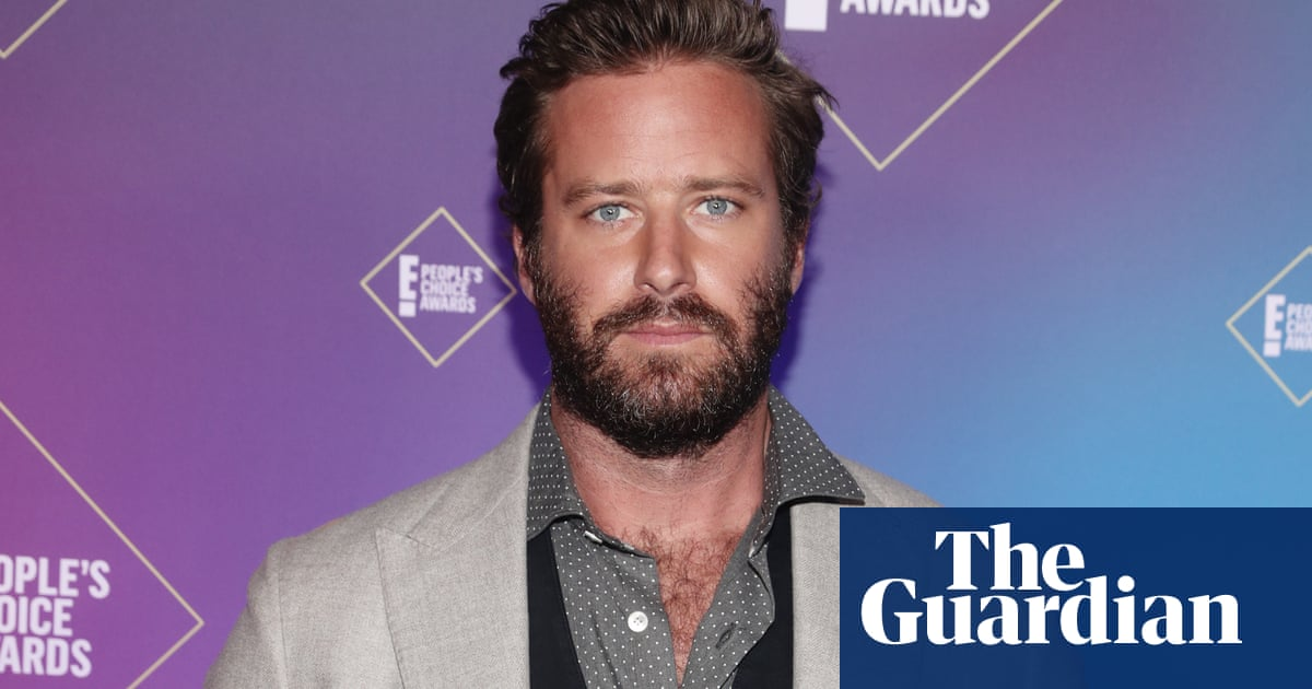 Actor Armie Hammer accused of raping a woman in 2017