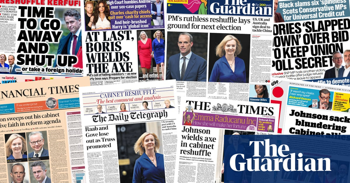 'Boris wields the axe': what the UK papers say about Johnson's ruthless reshuffle