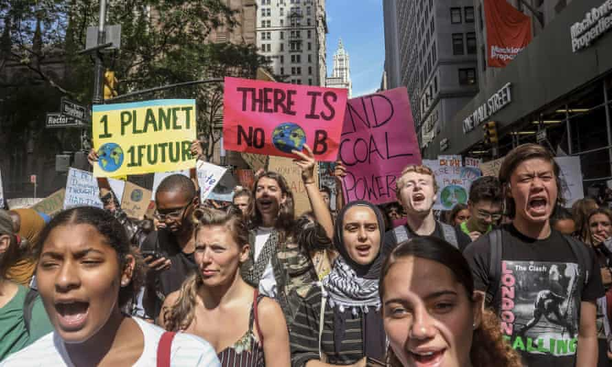 climate activists protest in new york in 2019