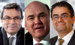 Ayman Asfari, Ian Taylor and Amjad Bseisu.
