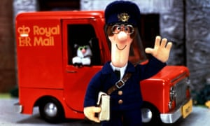BBC handout picture of Postman Pat and his black and white cat Jess from the BBC children's programme.