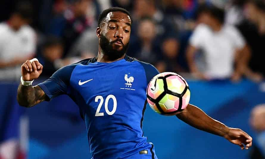 Alexandre Lacazette has been called up for the first time in two years by the France coach, Didier Deschamps.